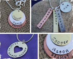 $11.20 Personalized Hand Stamped Family Necklace - 3 Different Styles at VeryJane.com