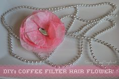 DIY: Rit Dye Simple Coffee Filter Hair Flower