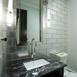 tile, lights, color, and mirror