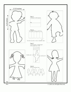 paper chain people 231x300 Paper Chain People Templates