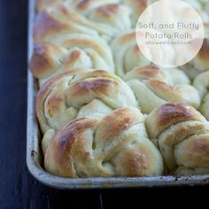 """The """"Best"""" Potato Rolls. The softest, fluffiest, butteriest (pretty sure that's not a word) potato rolls in all the land. Get yourself some. ohsweetbasil.com"""