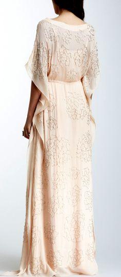 Rose beaded maxi dress
