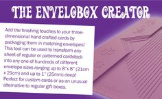 EnveloboxCreator - Craft Supplies, Craft CDs & Tools for Card Making & Scrapbooking - Crafters Companion