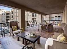 Expansive terrace at