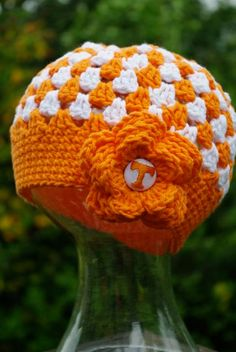 $24.00 Hand Crocheted Tennessee Vols Hat