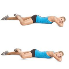 Sculpt a Better Butt: Facedown Hip External Rotation -- Don't let the look of this one fool you: It is one of the most challenging and effective moves for targeting your external hip muscles, which have a major impact on your glutes. -- Lie facedown on the floor with your arms folded under your head, legs extended straight behind you. Bend your right leg, knee pointed out, and place your foot on the back of your left knee, keeping both hips on the floor. Contract your right butt cheek and lif...