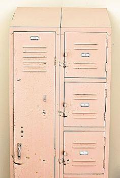 Pale pink lockers