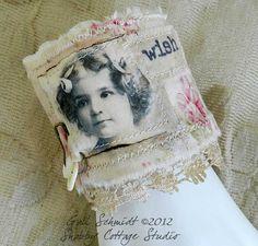 Fabric Cuff Bracelet  Wish by shabbycottagestudio on Etsy, $20.00