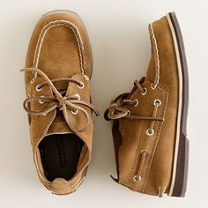 Boys' Sperry Top-Sider authentic original suede Chukka shoes, from J. Crew