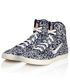 Nike x Liberty - Imperial Purple Liberty Print Hyperclave High Top Trainers 75.00