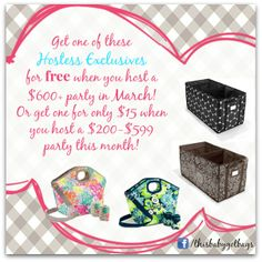 I love how Thirty One rewards their hostesses!! This on top of an amazing March special!! Bring on spring!!