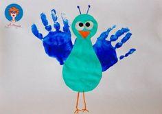 footprints, teacher thing, turkey, knutselen, gift idea, birds, kid craft, bird bodi, cardinals