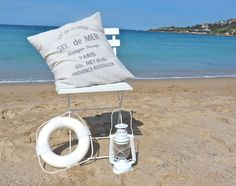 beachcomber french vintage cushion pillow