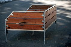 Reclaimed Redwood Daybed // Steel Frame