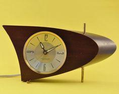 Atomic Vintage Wood Alarm Clock