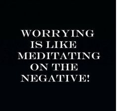 There is no point in worrying, it doesn't change the outcome.