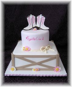 Cowgirl boots Cake-with a horse on top instead