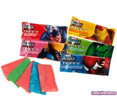 Marvel Heroes Taffy Candy Bars: 120-Piece Bag
