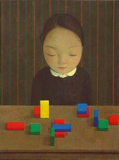Girl with Toy Bricks, Liu Ye, 2007