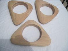 triangle unfinished wood bangles