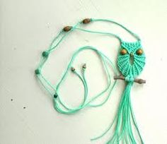 how to make macrame necklace - Google Search