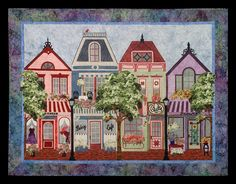 """Painted Ladies"":  Victorian Shop patterns by Sue Pritt at Sweet Season Quilts"