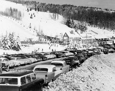 Bromley Mountain, Vermont, 1950s. #scenesofnewenland #soNE #soVThistory #soVT #Vermont #VT #history