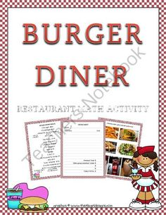 """""""Burger Diner"""" Restaurant Decimal Math from Rockin' Lessons on TeachersNotebook.com -  (7 pages)  - This is a great DECIMAL project as the students will practice adding decimals in a fun and hands-on way. They will order from a menu, work in groups, role play and learn math all at the same time."""