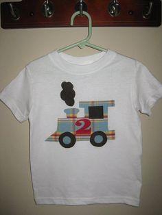 Choo Choo Train Applique Shirt by MonkeysCloset on Etsy.