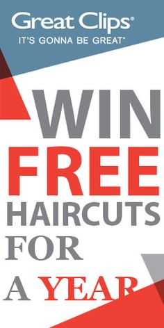 Win Free Haircuts for a Year from Great Clips -- Great Clips hair salons work hard to make hair cuts as convenient as possible. They are open evenings and weekends with no appointments necessary. There are 12 prizes of one $100 Great Clips gift cards to be won. Great Clips also has launched the online check-in service, allowing customers to add their name to the wait list of a Great Clips salon before they arrive. (Ends Dec. 31, 2014.)