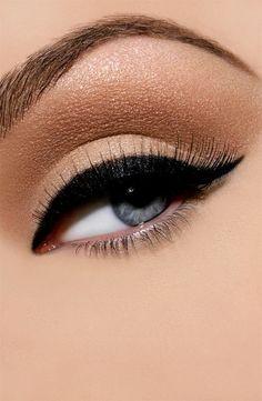 Beautiful makeup blue eyes