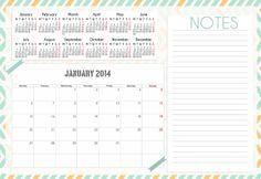 Cinde-Chuches de Regalo: calendarios 2014 para nuestras agendas scrap