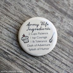From Beatrice Pearl on www.etsy.com a real Army wife herself