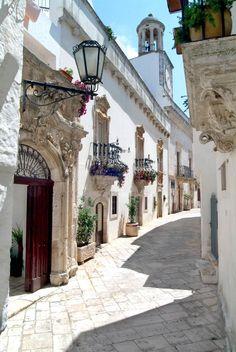 ancient streets of locorotondo, italy