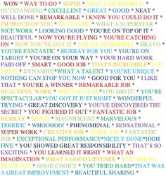 Students need to hear you say that they are doing good. This will boost their confidence and encourage them to keep trying. This is 100 different ways to tell your student that they are doing good.