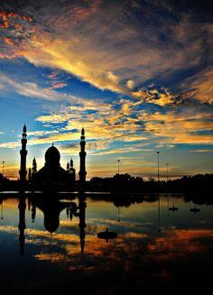 mosque at kuala belait, brunei