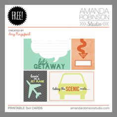 FREE Summer FREE-For-All (Day 3) | On Vacation by Amanda Robinson Studio