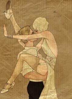 flapper- vintage style illustration
