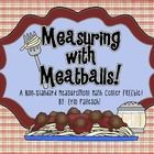 Here is a fun little math center to help your kiddos practice their non-standard measuring skills using...meatballs!  - student recording sheet plu...