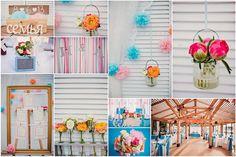 розово голубая свадьба