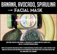 Banana – Avocado - Spirulina Facial Mask - Basic Recipe