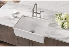 Elkay Fireclay SWUF28179WH Single Bowl Farmhouse Sink - Single Bowl Sinks - Amazon.com