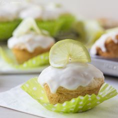 Coconut Lime Glazed Muffins
