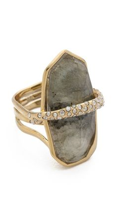 => Alexis Bittar Large Orbiting Ring |  Cheap Price  Swarovski crystals curve over a labradorite stone on this sculptural cocktail ring.Imported, China.  Buy Cheap Price until you click to see price