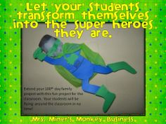 Get Ready for a Super Hero Themed 100th Day of School Right Here!