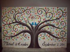 Wedding Thumbprint Guest Tree