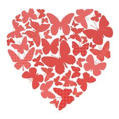 Valentine butterfly heart
