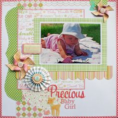 precious baby girl layout..... (pin just goes to home page of blog, not individual post)