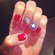 July 4th nails #flag #july4th #america