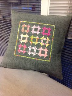 Quilting Prolifically churn dash pillow
